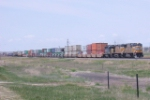 EB intermodal with CSX SD40-2 helping